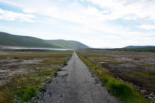 Road in the loch - looking eastwards
