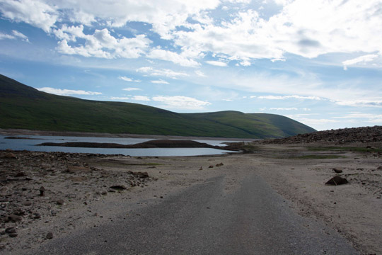 Loch covering the road, making it a really boggy bit (where I fell in)
