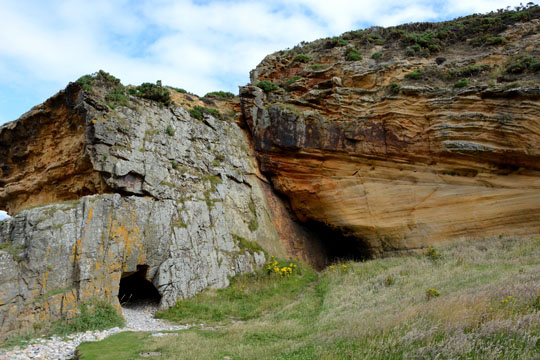 caves at Clashach cove