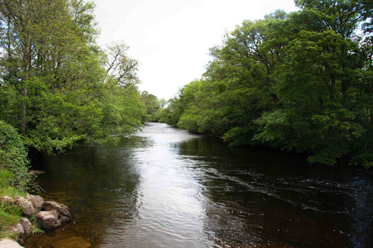 Looking eastwards along the river Conon