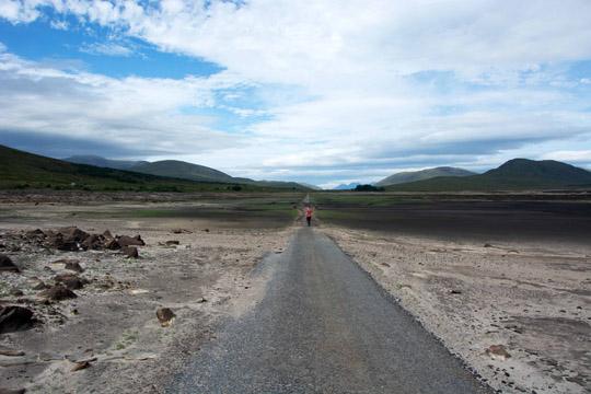 Ian walking westward nearing the 1st bridge