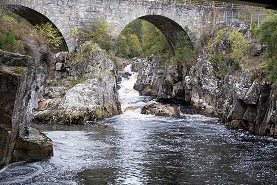 Black Water under the bridge at Silverbridge
