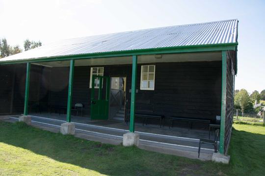 A shinty pavilion