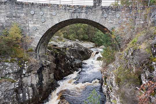 Water flowing under the bridge at Silverbridge