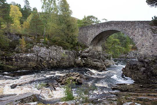 Little Garve bridge with river flowing underneath it