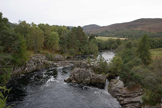 Looking Downstream from Little Garve Bridge