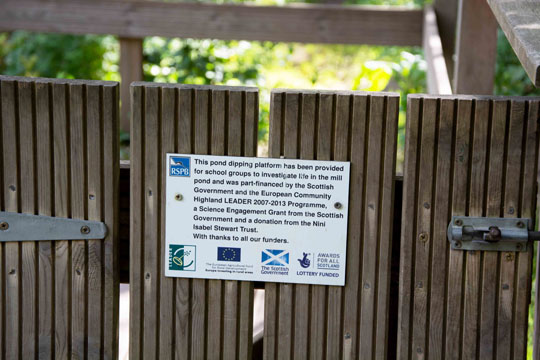 Pond dipping sign