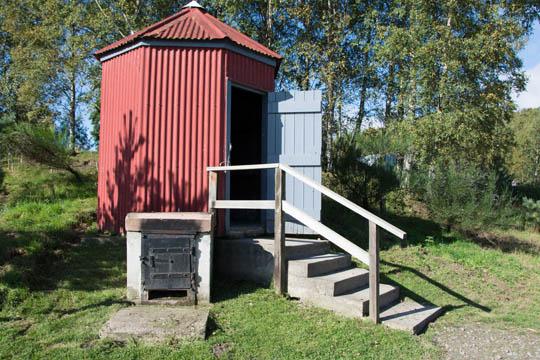 a small smokehouse