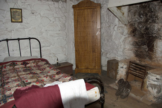the bedroom in the old cottage