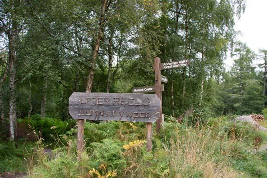 Upper Reelig Community Wood sign