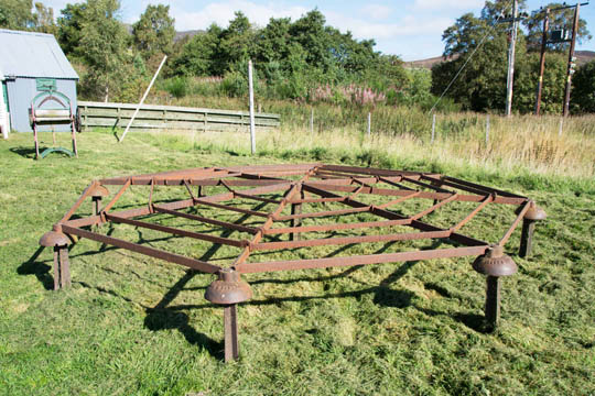 Victorian hay drying frame
