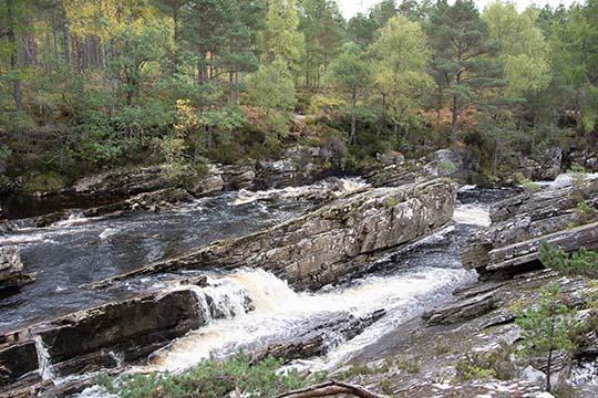 river tumbling over rocks