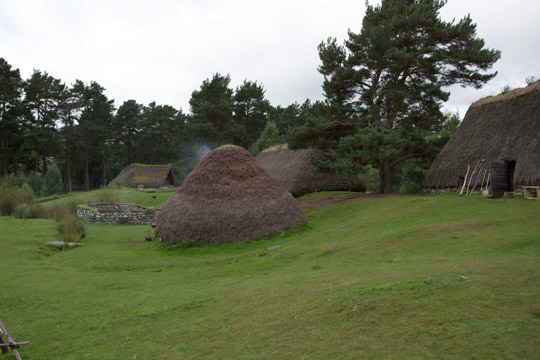 A reconstructed early 1700s township of traditional thatched blackhouse type buildings